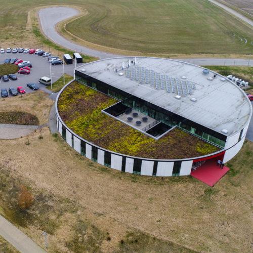 Dronefoto af TV SYD